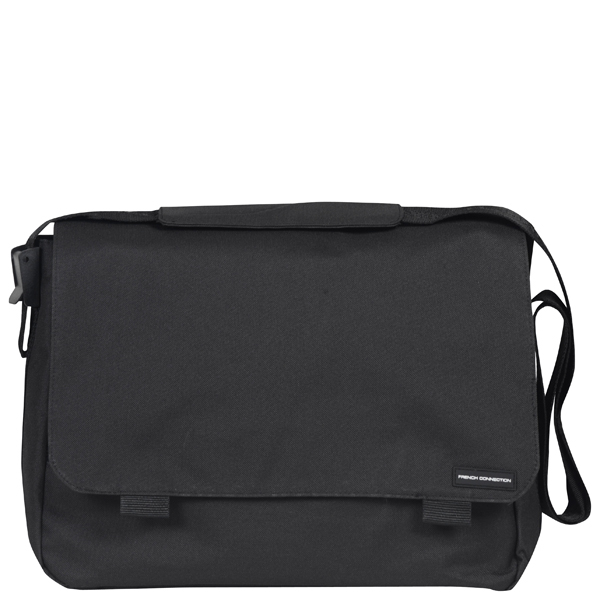 French Connection Men's Core Nylon Messenger Bag - Black French ...
