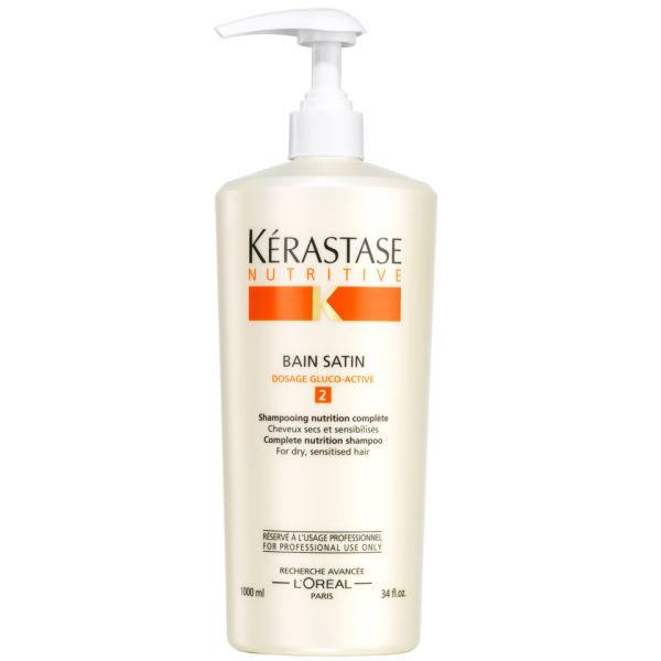 K rastase nutritive bain satin 2 1000ml hq hair for Kerastase bain miroir 1 vs 2