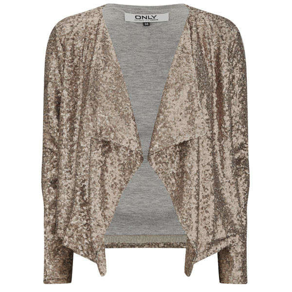 ONLY Women's Trudy Waterfall Sequin Jacket - Copper Womens ...