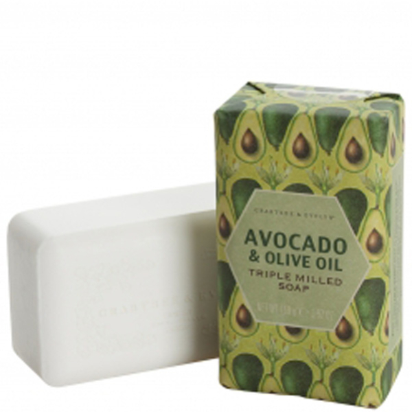 Savon triple raffinage à huile d'olive et à avocat Crabtree & Evelyn (158g)