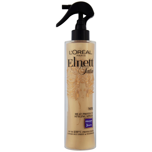 L'Oreal Paris Elnett Satin Heat Protect Spray - Straight (170ml)
