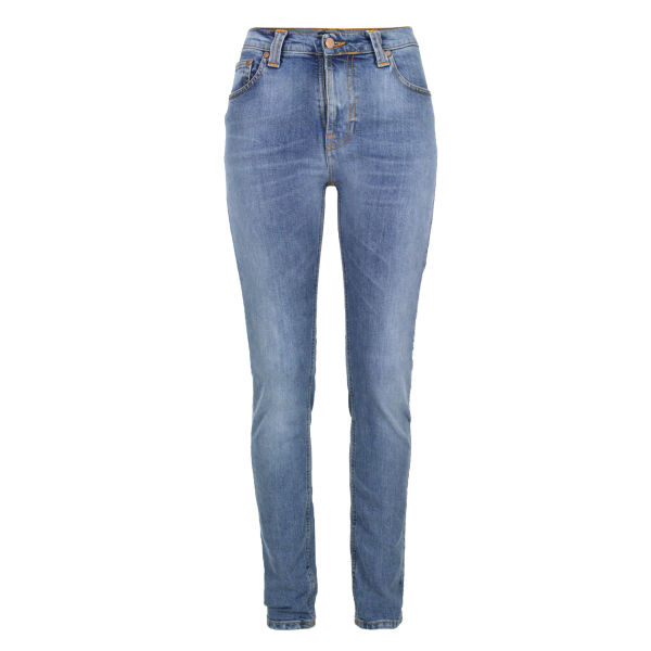 Nudie Women's High Kai 111136 Skinny Jeans - Used Light