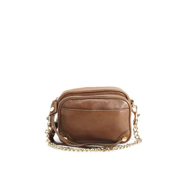 BOSS Orange Chain Strap Leather Cross Body Bag - Medium Brown