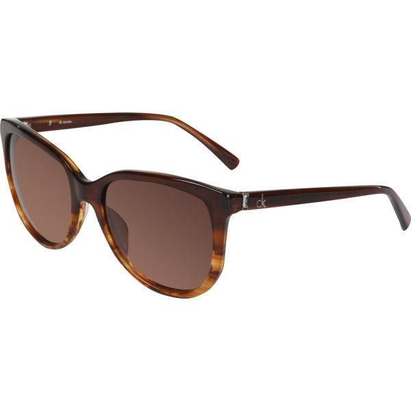 Calvin Klein Oversized Sunglasses - Chestnut