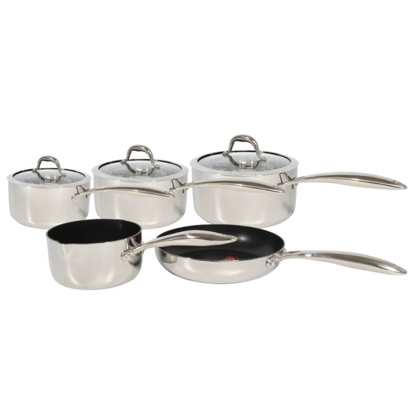 Morphy Richards Kitchen Set: Morphy Richards 79813 Pro Tri 5 Piece Pan Set - Stainless Steel