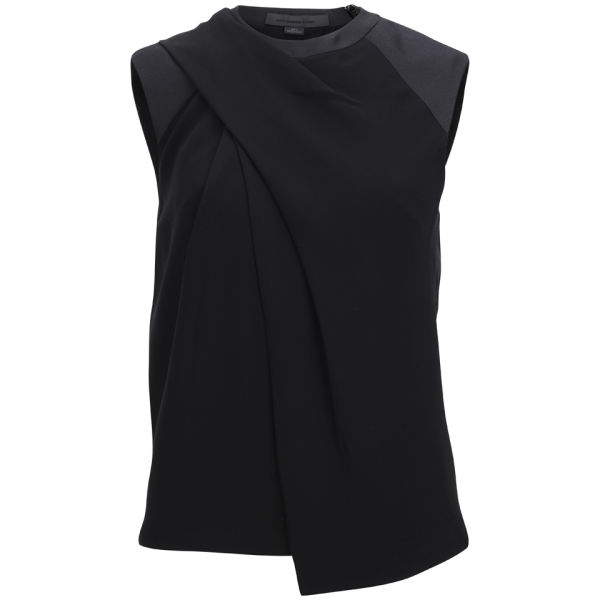 Alexander Wang Women's Draped Neck Muscle Tee - Carbon