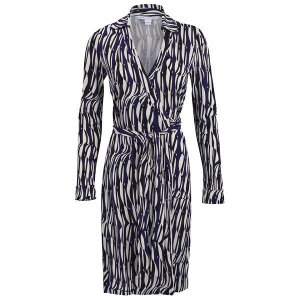 Diane von Furstenberg Women's New Jeanne Wrap Dress - Glass Weave Purple