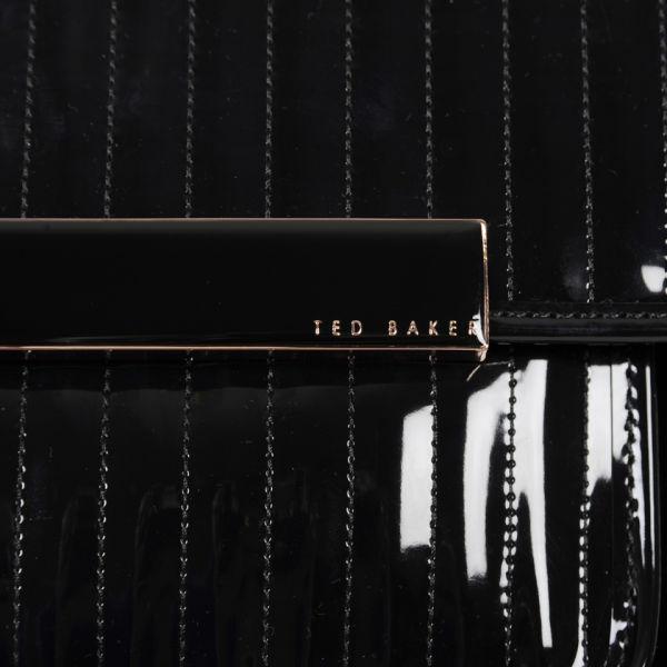 8040b22f891e Ted Baker Mardun Enamel Flap Pocket Bag - Black  Image 3