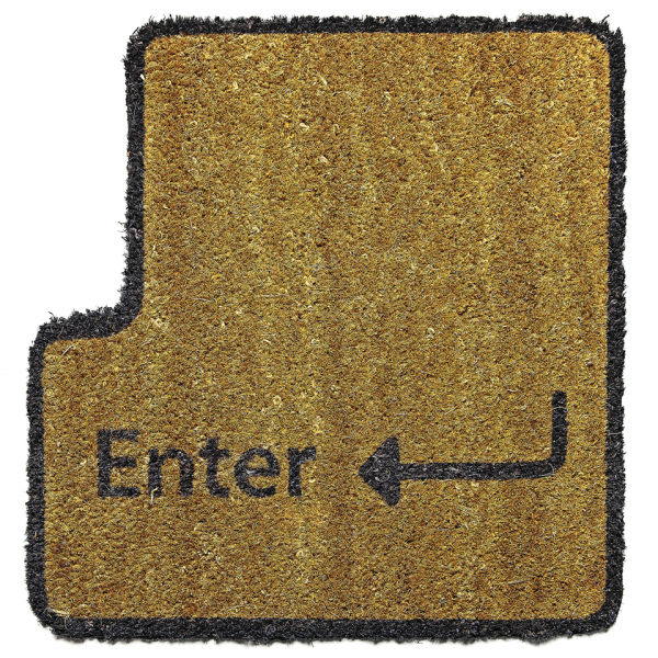Enterus door mat iwoot - Geeky welcome mats ...