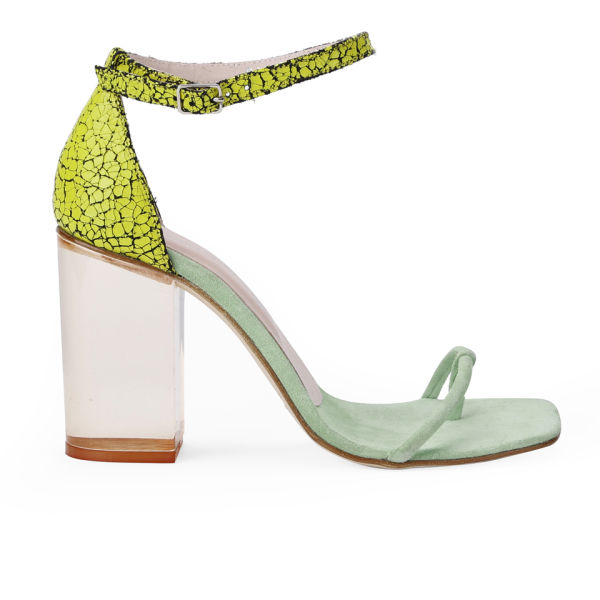 Opening Ceremony Women's Jindo Ankle Strap Leather Heeled Sandals - Tetra/Mint