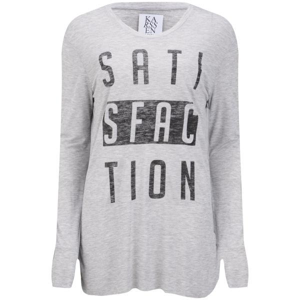 Zoe Karssen Women's Satisfaction Long Sleeve T-Shirt - Grey