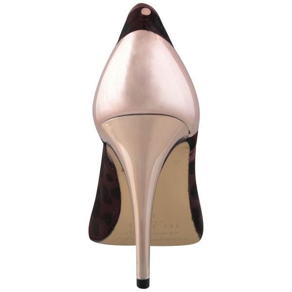 e448c0dba0d4f Ted Baker Women s Alenk Leopard Pony Heeled Shoe Boots - Dark Red  Image 5