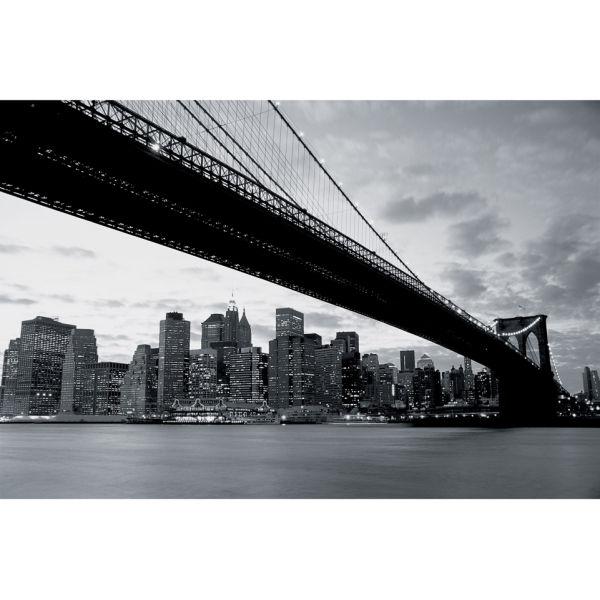 3 Piece Painting On Canvas Wall Art Nyc Street Lights New: New York's Brooklyn Bridge And City Skyline Wall Mural