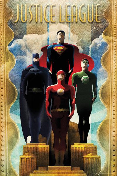 DC Comics Team Art Deco - Maxi Poster - 61 x 91.5cm