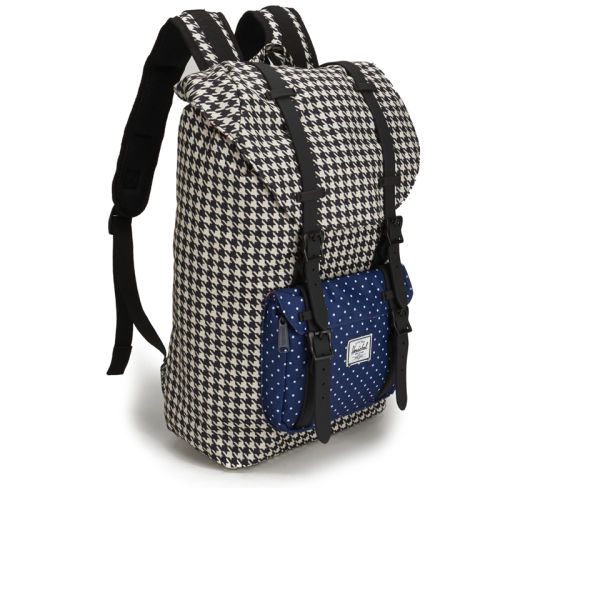 a5fcb1845f7a Herschel Supply Co. Little America Mid Volume Backpack - Houndstooth Navy Polka  Dot