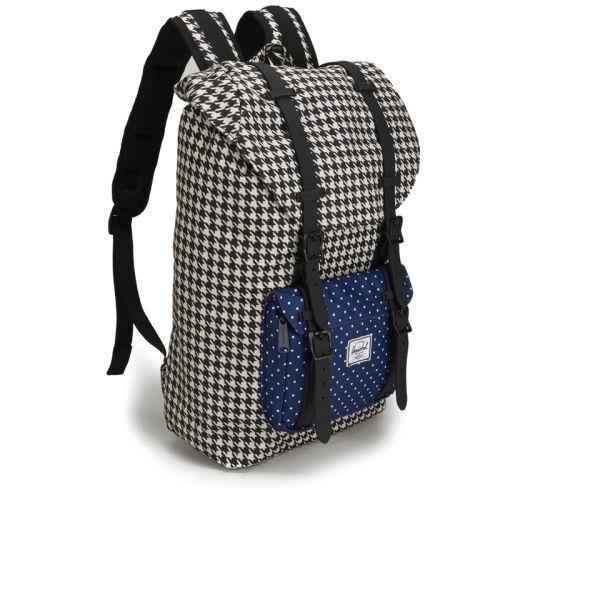 ec0fb40353e Herschel Supply Co. Little America Mid Volume Backpack - Houndstooth Navy  Polka Dot
