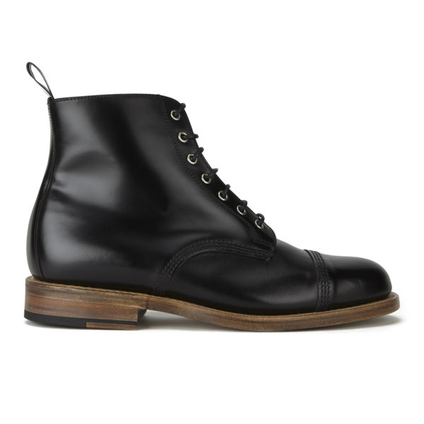 Oliver Spencer Men's Oxford Lace-Up Leather Boots - Black
