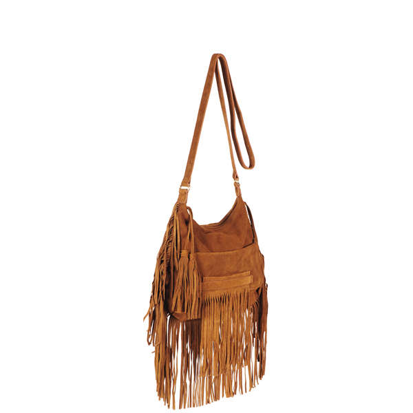 French Connection Haniel Suede fringed bag Womens Accessories ...