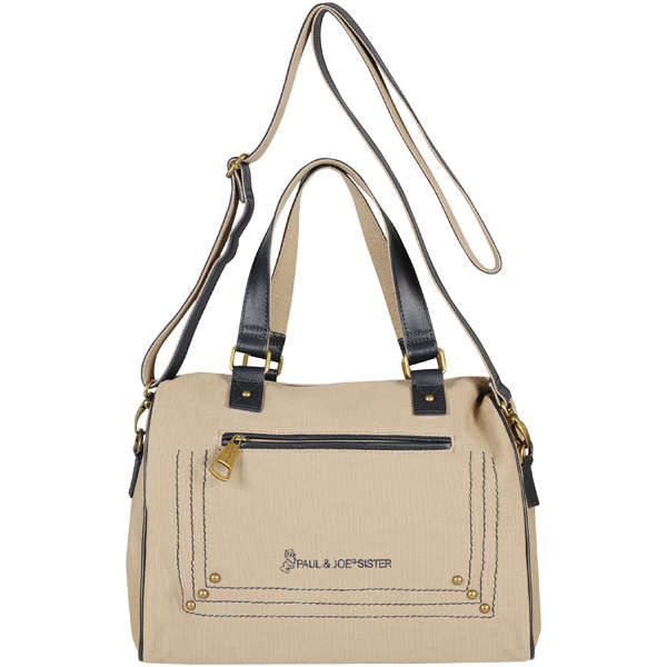 Paul Joe Sister Lope Contrast Trim Bowling Bag Natural Navy Womens Accessories Zavvi Us