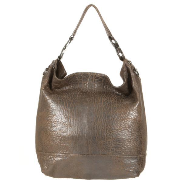 Ameko Nez Metallic Leather Large Slouch Hobo Bag