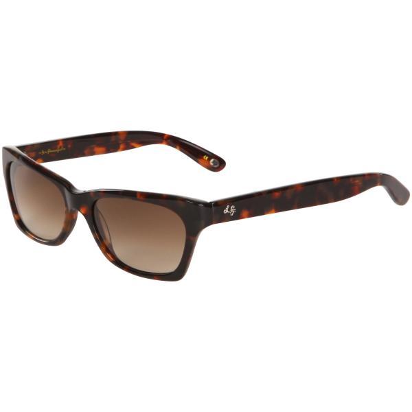 Lulu Guinness Annabelle Logo Arm Retro Sunglasses - Tortoise Frame ...