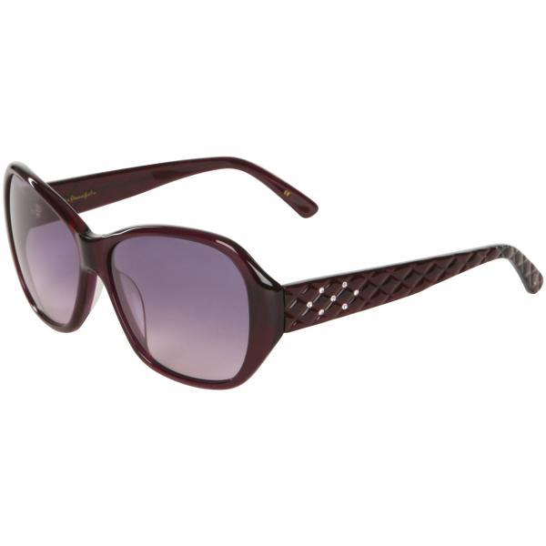 Lulu Guinness Dita Quilted Arm Retro Sunglasses - Purple Frame/ Grey ...