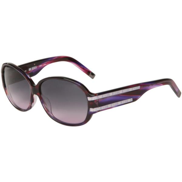 ca2ed6b6df2a Karl Lagerfeld Oval Wide Arm Sunglasses - Striped Violet Womens Accessories