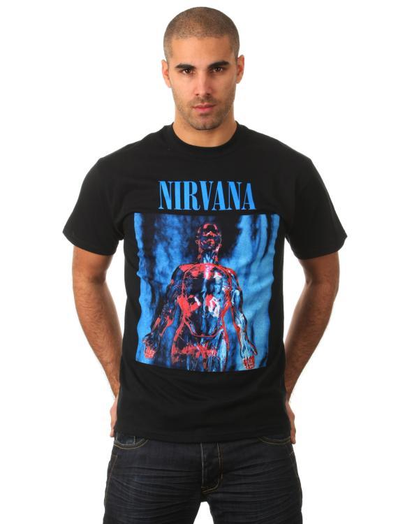 6b5700a7 Nirvana Mens Sliver T-Shirt - Black Clothing   Zavvi Australia