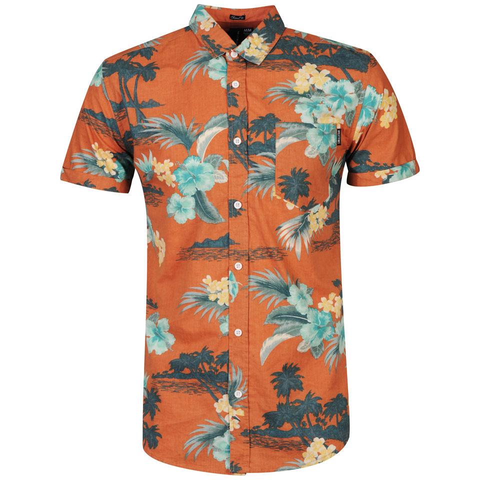 Soul Star Mens Hawaii Shirt Burnt Orange Mens Clothing Zavvi Us