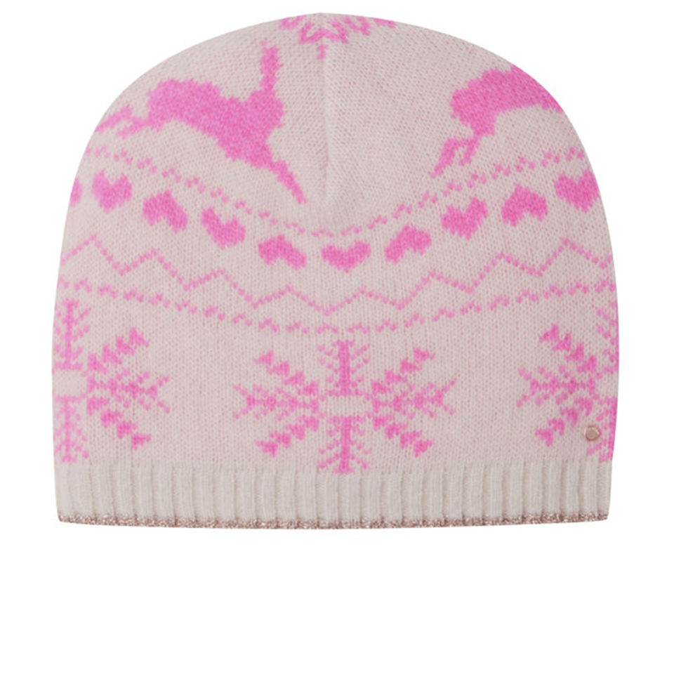 6a38f0f58 Ted Baker Women's Keria Fair Isle Knitted Hat - Nude Pink