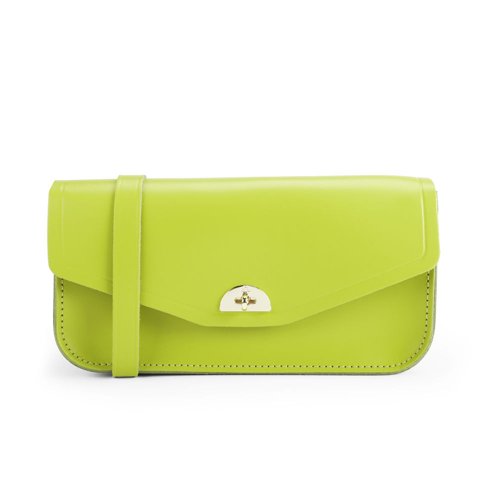 3b05f7e60fed4 The Cambridge Satchel Company Leather Clutch Bag - Apple Green ...