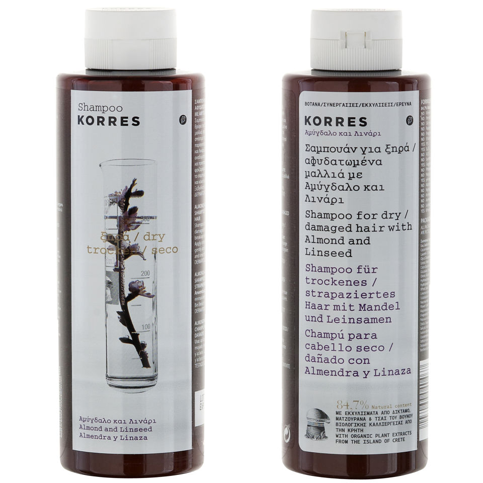 Korres Shampoo Almond And Linseed For Dry Damaged Hair