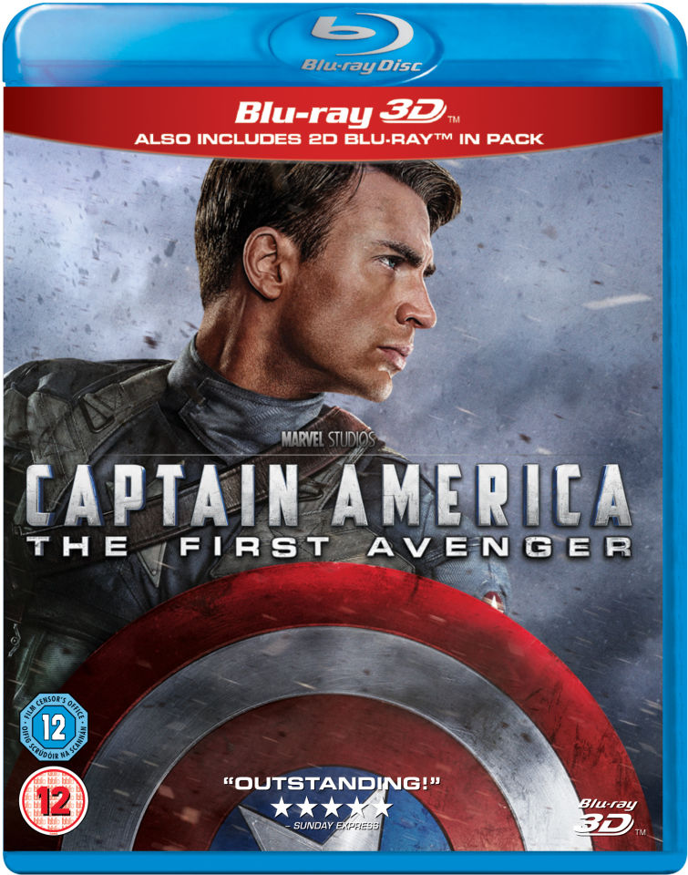 captain america the first avenger 3d includes 2d version