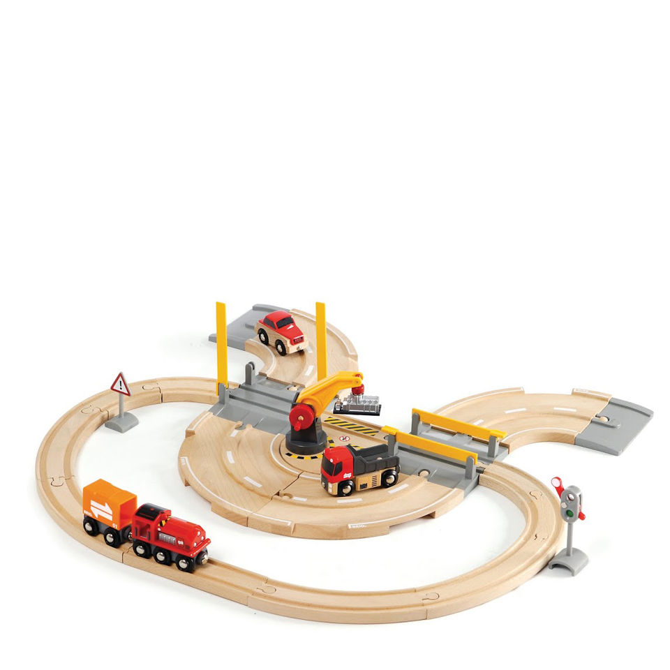 Brio Road And Rail Crane Set