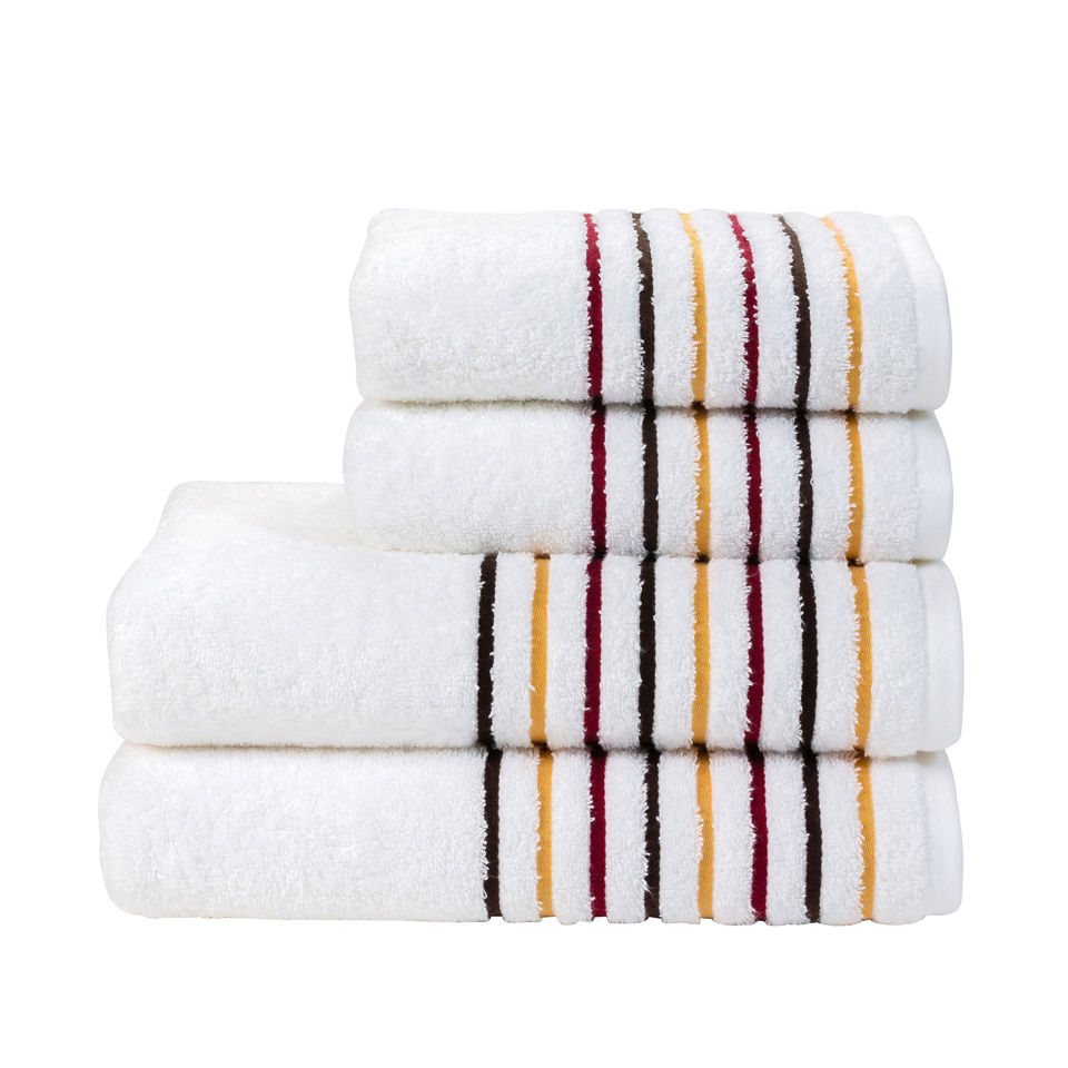 Kingsley Lifestyle Ribbon Towel - Sangria