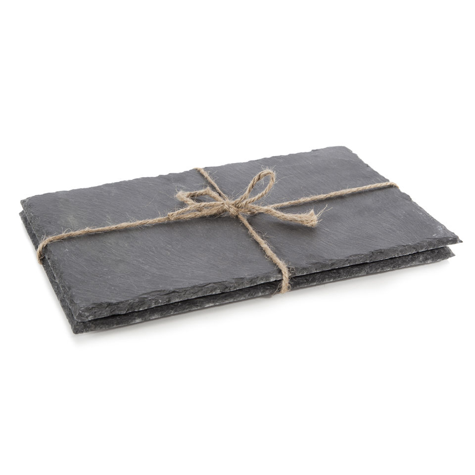 Natural Living 2 Piece Rectangular Slate Placemats