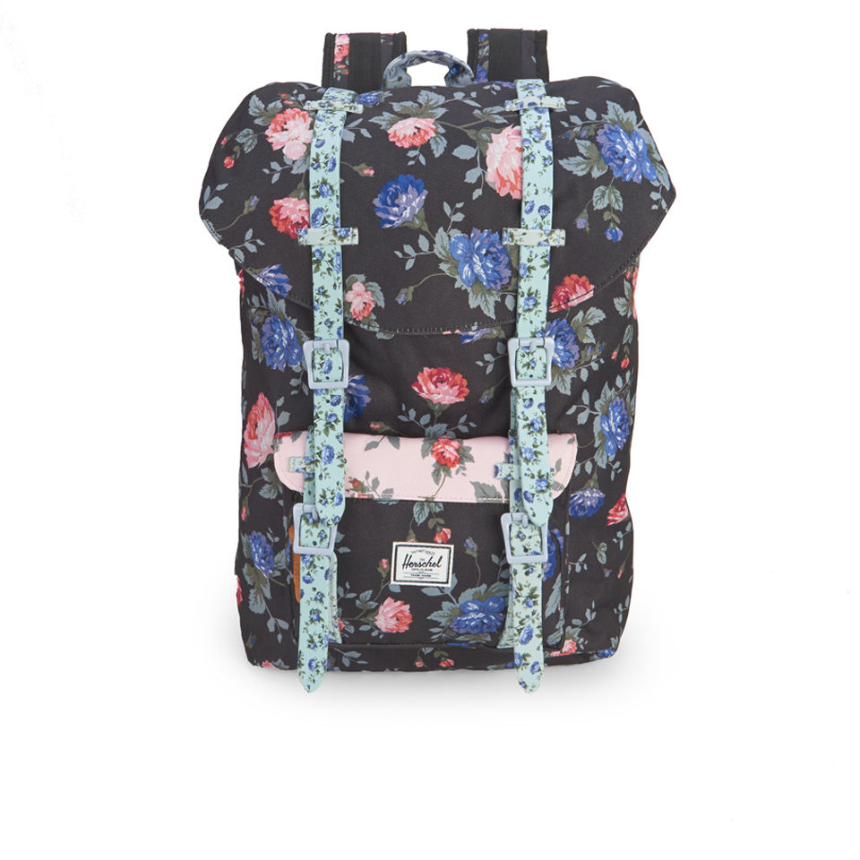 ... Herschel Supply Co. Little America Mid-Volume Backpack - Black Floral 1d5799cb15fb5