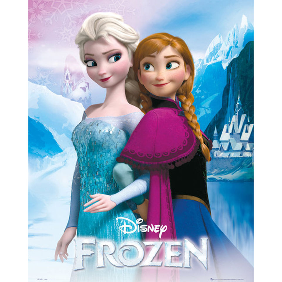 frozen anna and elsa mini poster 40 x 50cm merchandise zavvi. Black Bedroom Furniture Sets. Home Design Ideas