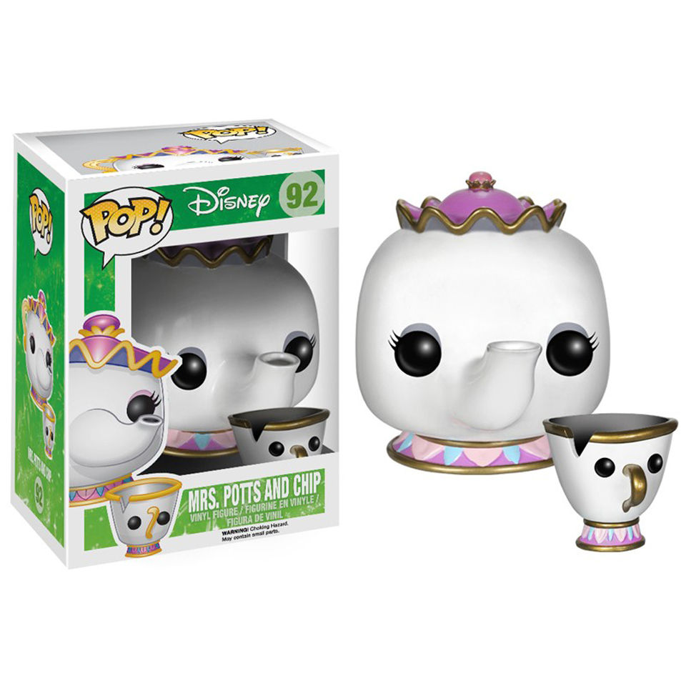 Figurine Pop! Disney La Belle et la Bête Mme Samovar et Zip