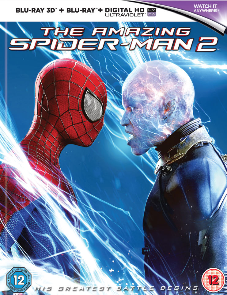 The Amazing Spider-Man 2 3D: Mastered in 4K Edition (Includes UltraViolet  Copy) Blu-ray | Zavvi