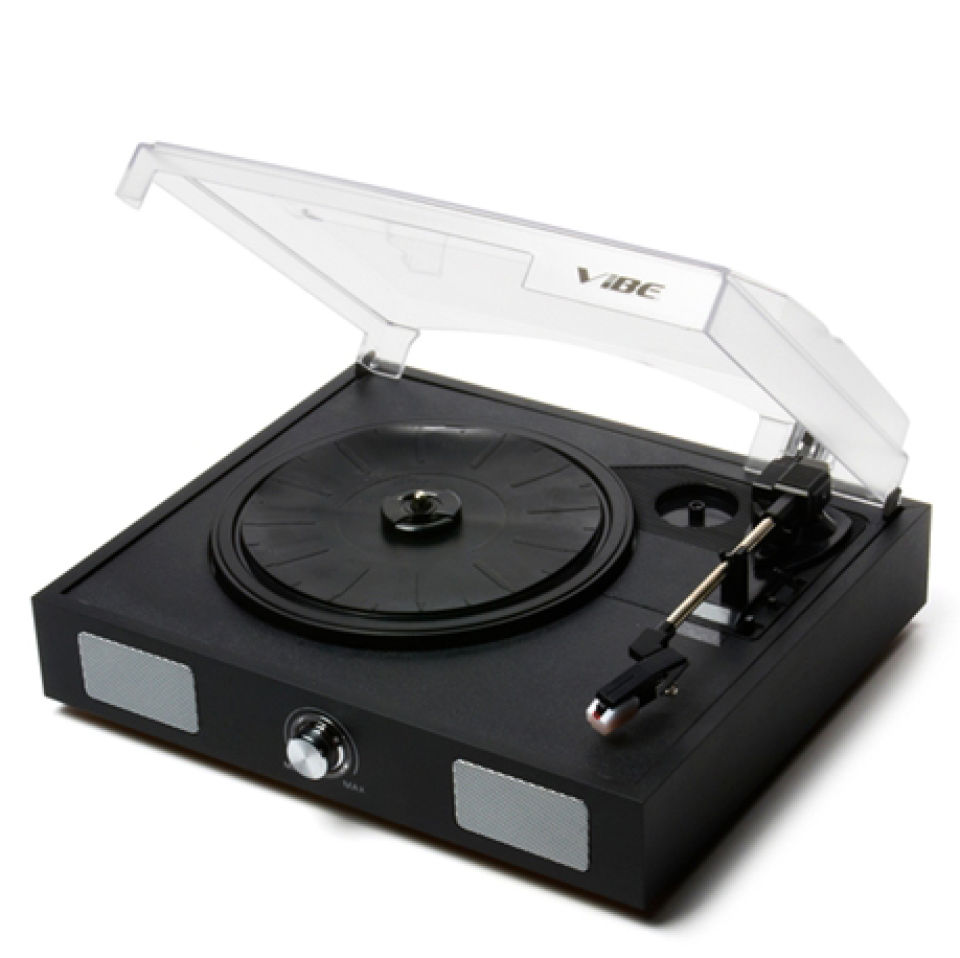 VIBE Sound VS-2002-SPK USB Turntable//Vinyl Archiver Record Player w//Speakers
