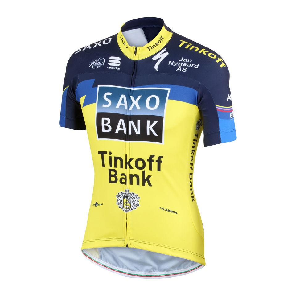 fbb16e079 Saxo Bank Tinkoff Bank Team Pro Team Ss Jersey - 2013