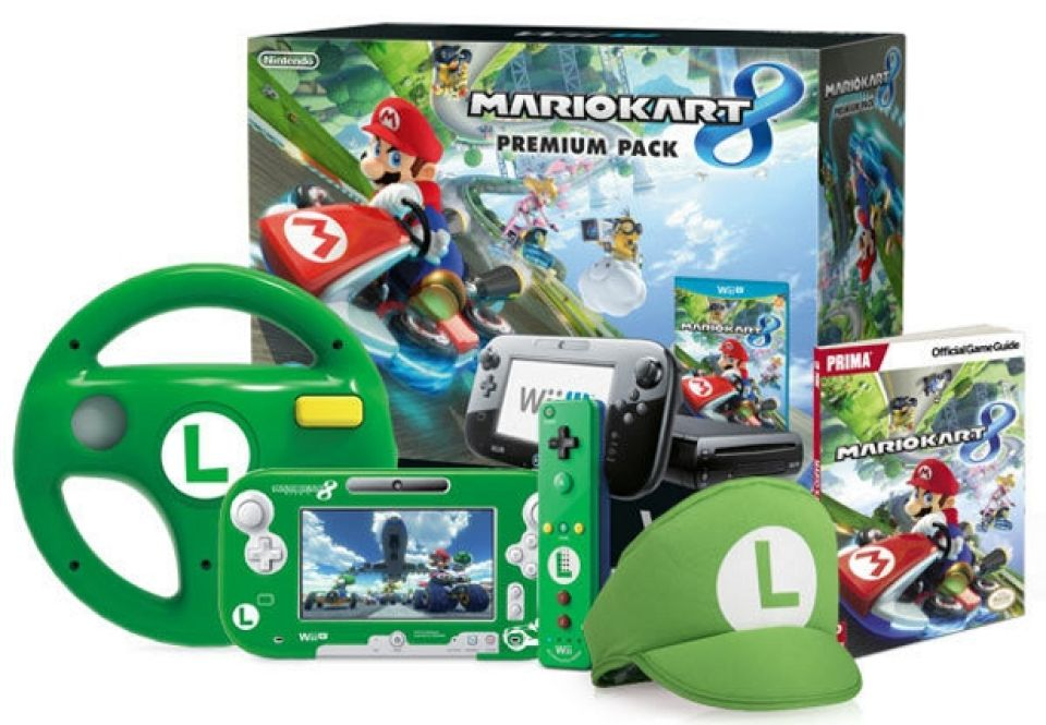 Mario kart 8 green luigi bundle nintendo official uk store for Coupe miroir mario kart wii
