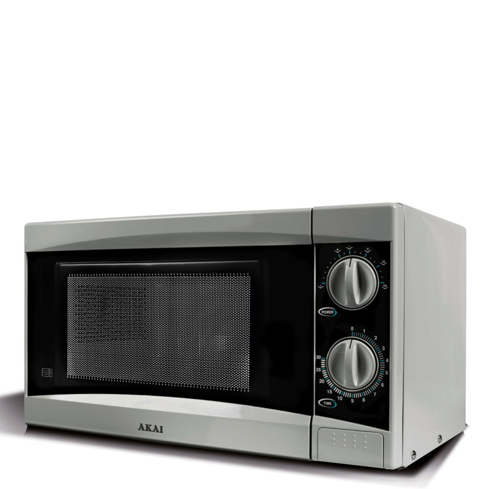 Akai A24002 Manual Microwave - Silver - 800W