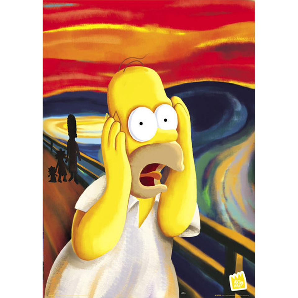 The Simpsons Scream - Maxi Poster - 61 x 91 5cm