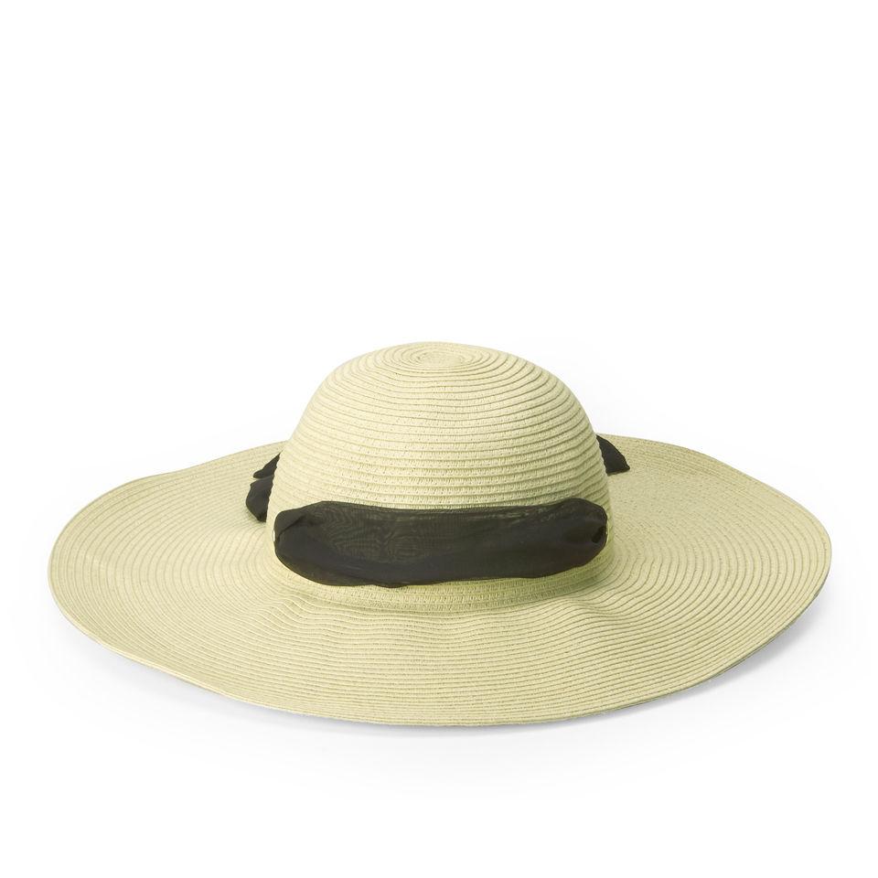 6a7056b1fab51c Boardman Bros Women's Floppy Sun Hat - Natural/Black Clothing | Zavvi