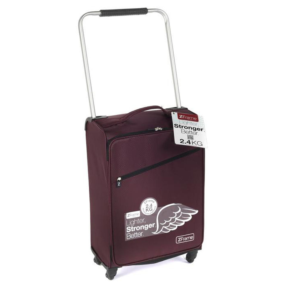 Z Frame 22 Inch Super Lightweight 4 Wheel Aubergine Suitcase | IWOOT