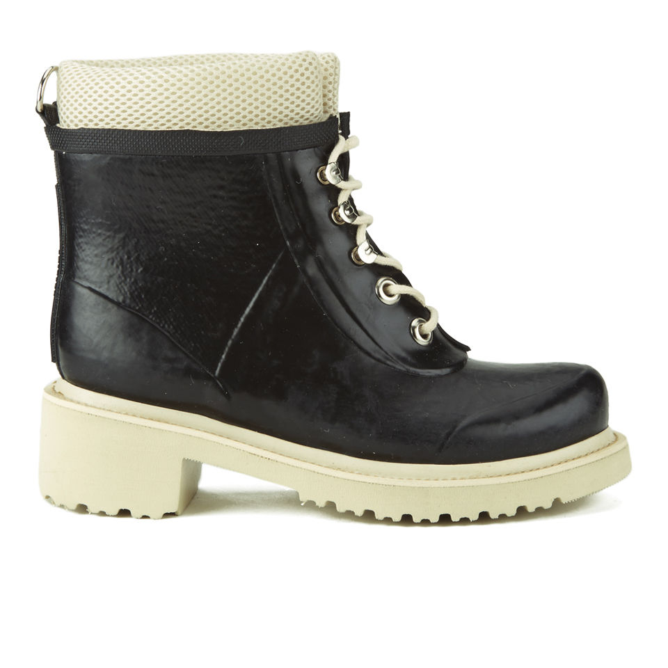 ilse jacobsen s lace up work boots with mesh black