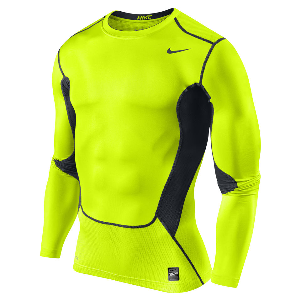 67a75ed9 Nike Men's Hypercool Compression Long Sleeve Top 2.0 - Volt Green/Black  Sports & Leisure | Zavvi