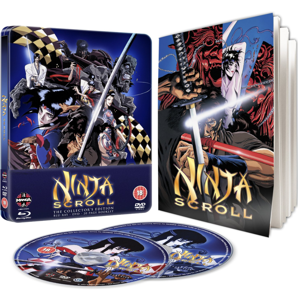 Ninja Scroll - Steelbook Edition (Blu-Ray and DVD)